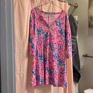 Lily Pulitzer 3/4 sleeve dress S: large
